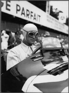 Louis Chiron at the wheel of his 4CLT/48 Maserati