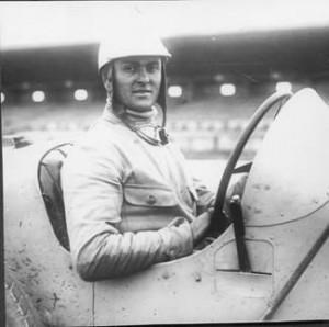 Louis Chiron at the wheel of his Bugatti for the 1926 Grand Prix of Provence held at the Miramas circuit