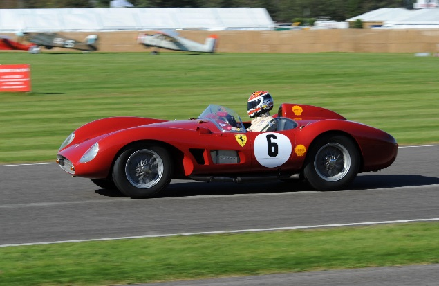 In the Lavant Cup Emanuelle Pirro had a spirited drive in this Ferrari 500TRc (Photo Jeff Bloxham)