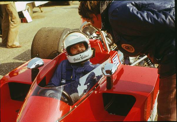 At the wheel of the F5000 Lola Chevrolet