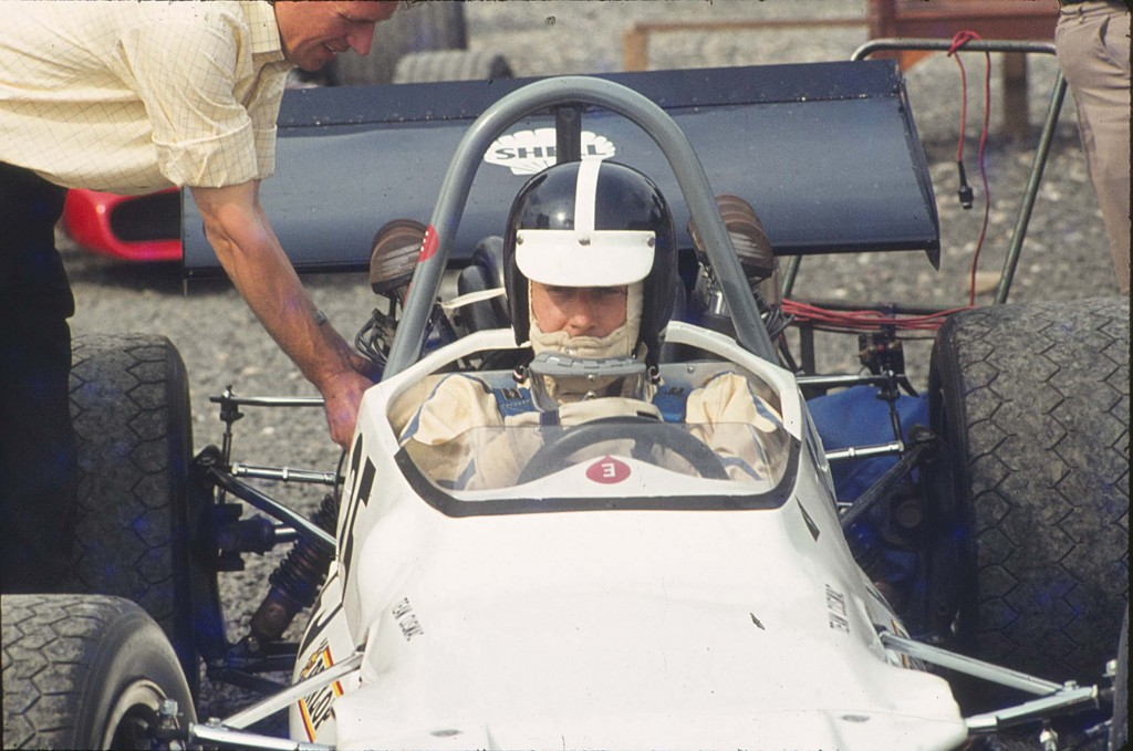 Michael at the wheel of his Brabham BT 30 X with which he became British Hill Climb Champion