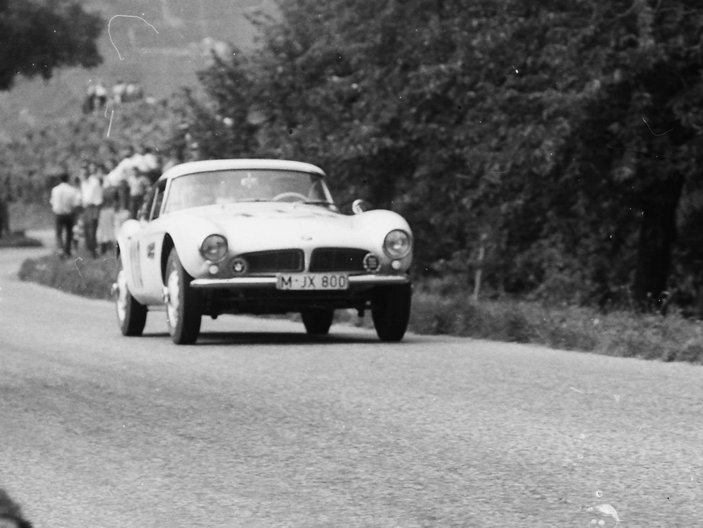 At the age of 57 he raced this factory BMW 507 at the European Hill Championship in 1958 at Ollon Villars