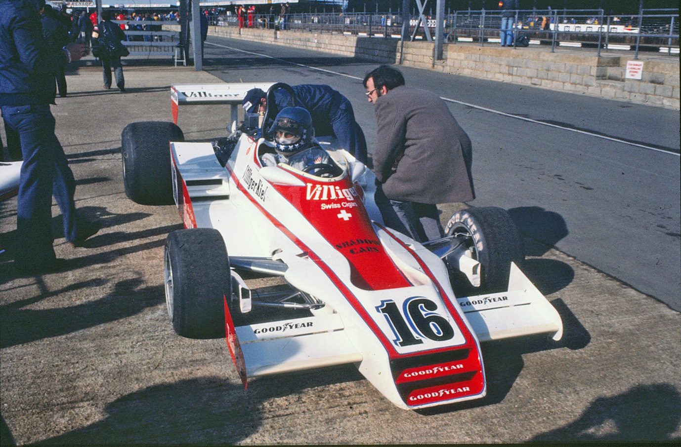 Hans-Joachim at the wheel of the Shadow DN 8 at the British Grand Prix 1978