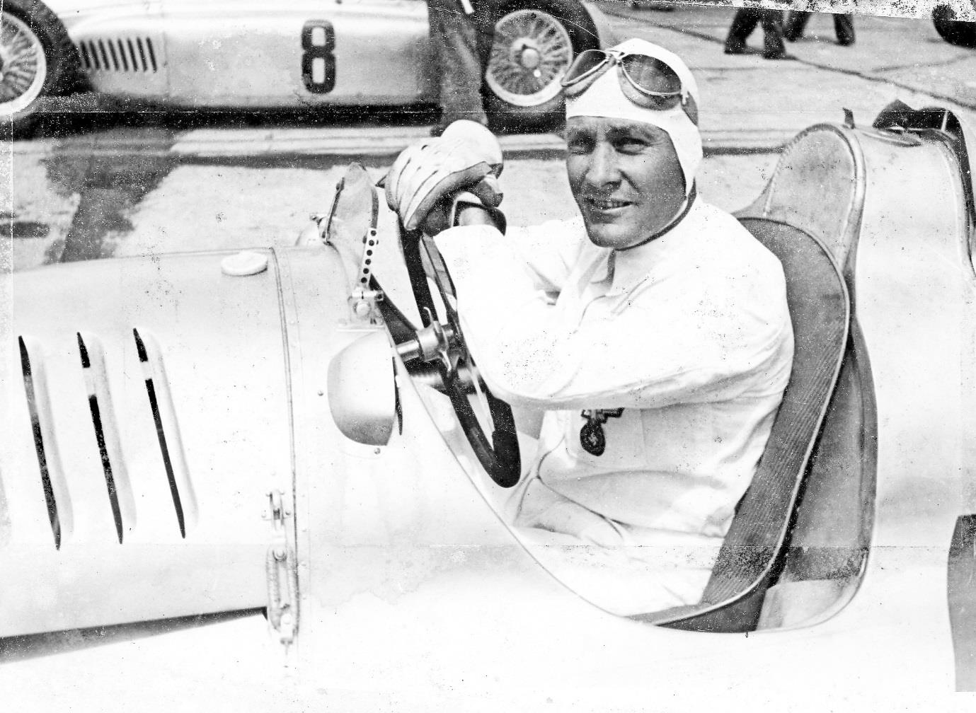 Hans Stuck at the wheel of his Auto Union