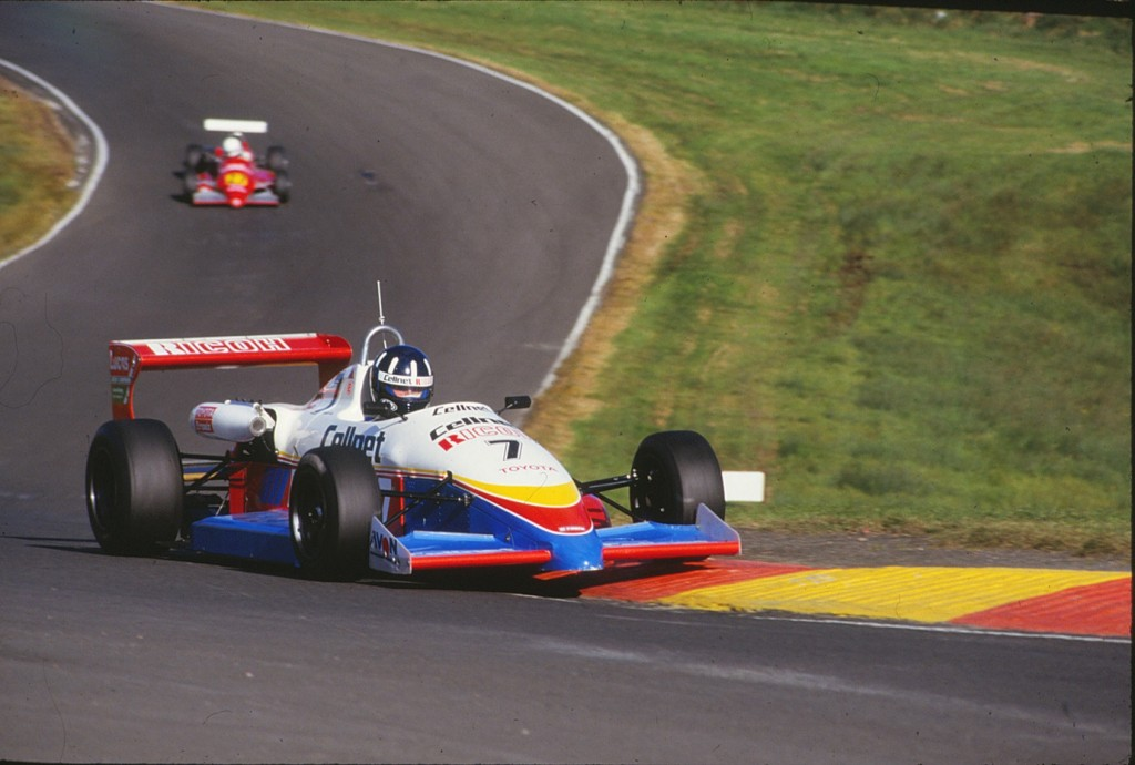 Damon Hill in his Formula 3 days driving the Ralt-Toyota in the Cellnet team