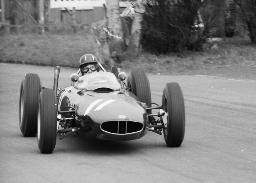 Graham Hill at the British Grand Prix, Aintree, in the BRM
