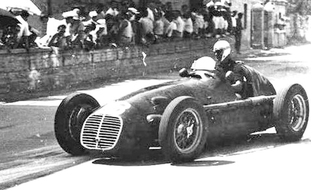 Franco Comotti driving the Maserati Milan in 1950