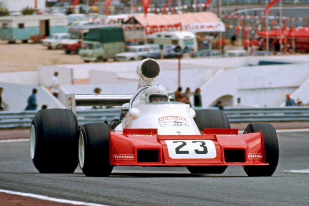 The Trojan 103 run by the Trojan-Tauranac team in 1974 at the Dutch Grand Prix Photo (Tim Schenken Archive.)
