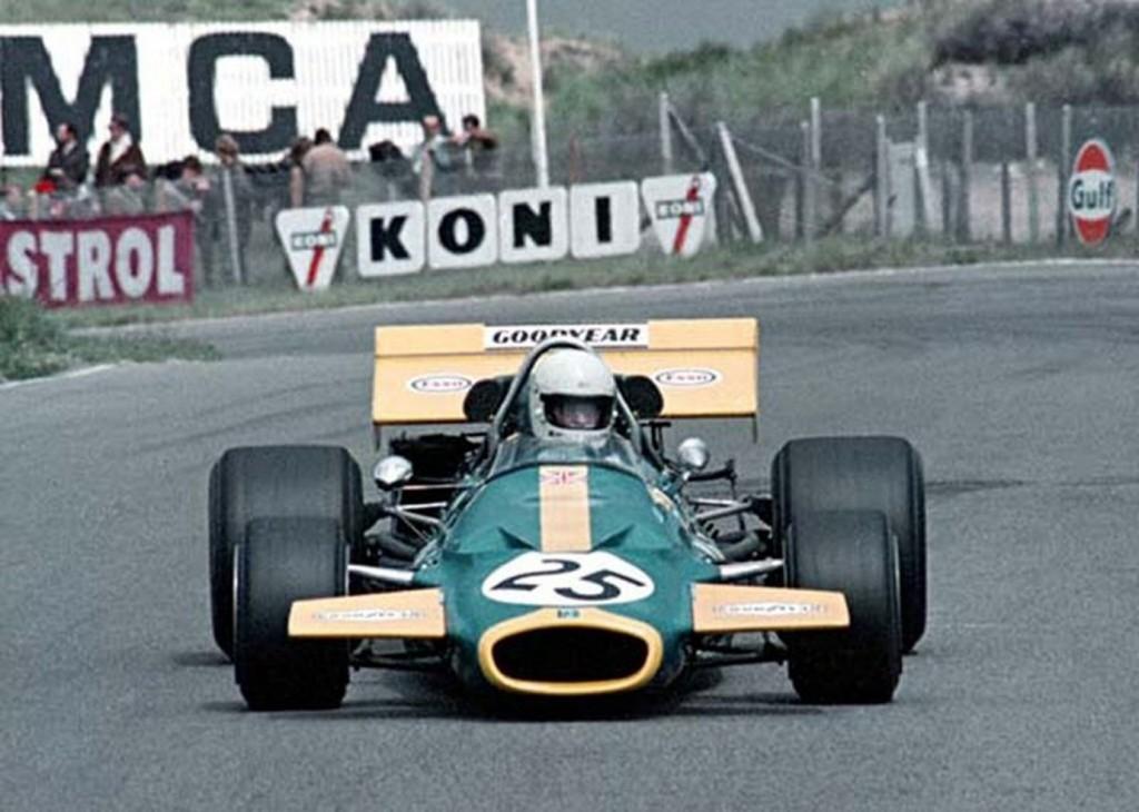 Tim at the wheel of the MRD Brabham BT33 in the Dutch Grand Prix of 1971 ( Schenken Archive)