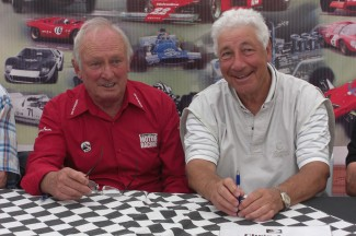 Chris Amon and Howden Ganley at the New Zealand launch of Chris Amon's biography