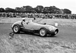 The stylish Nino Farina at the wheel of Tony Vandervell's Ferrari Thin Wall Special'