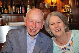 John Surtees with his wife Jane in Maranello 2016. <em>(Photo Peter Meierhofer)</em>