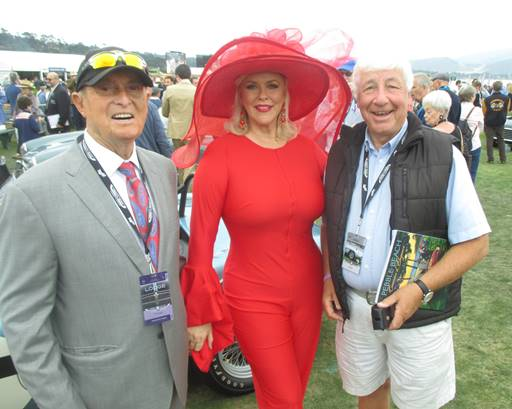 Bob Bondurant and his wife Patricia all dressed up for the Pebble Beach Concours with Howden