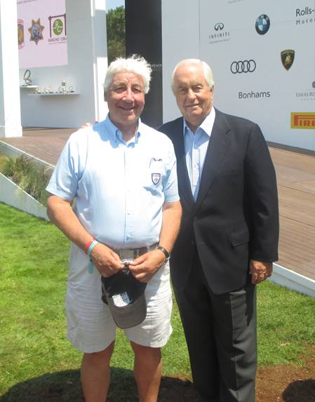 Howden with American racing legend and member Roger Penske.