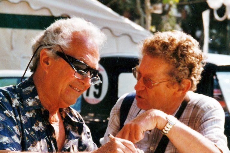 Bernard Consten, left, with Graham Gauld