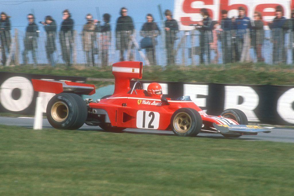 Niki Lauda (Ferrari) in theb 1974 non-championship Race of Champions at Brands Hatch. Photo: Grand Prix Photo