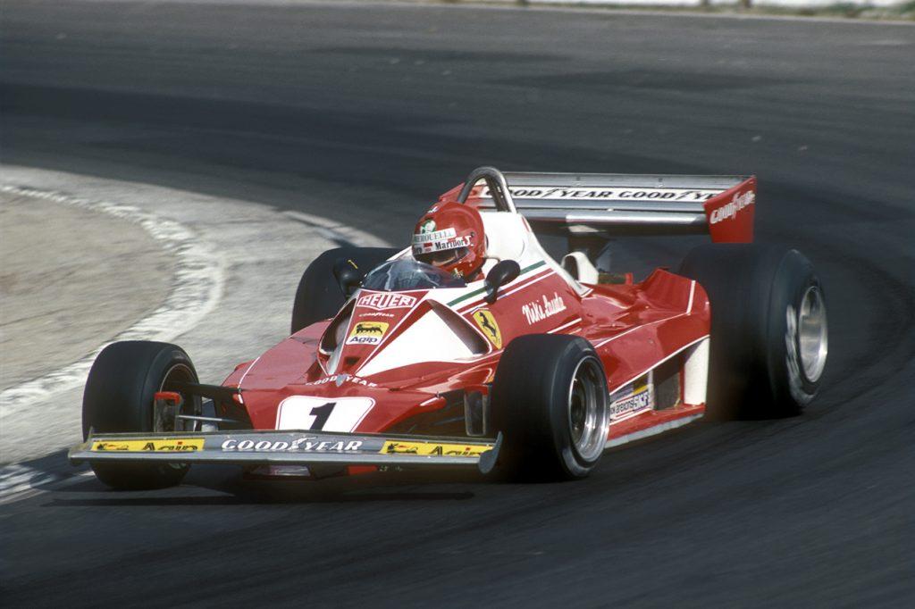 Niki Lauda (Ferrari) during the 1976 British Grand Prix at Brands Hatch. Photo: Grand Prix Photo