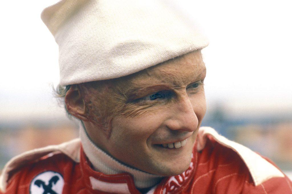Niki Lauda (Ferrari) during the 1977 season. Photo: Grand Prix Photo