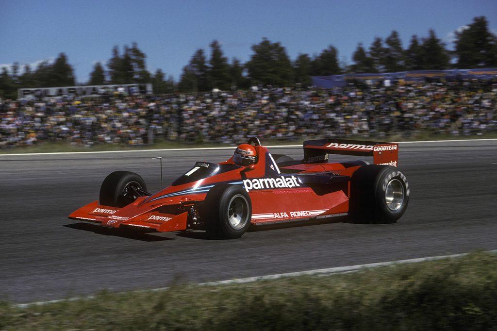 Niki Lauda (Brabham-Alfa Romeo fan car) in the 1978 Swedish Grand Prix in Anderstorp. Photo: Grand Prix Photo