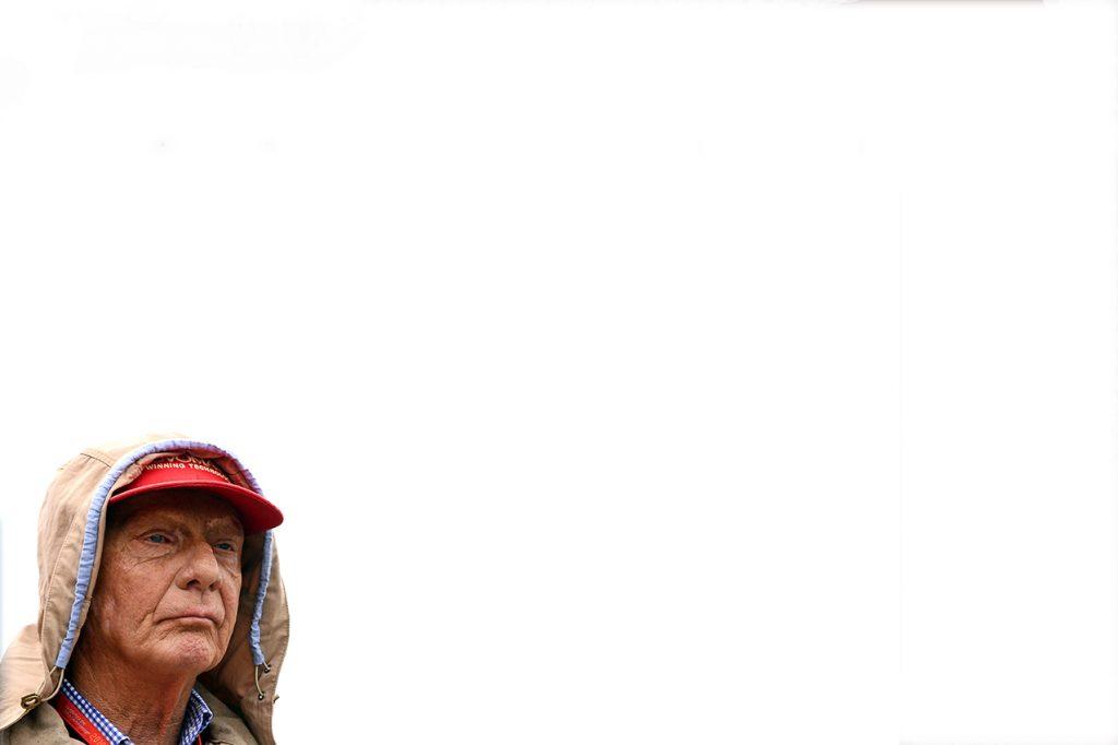 Niki Lauda (Mercedes) the 2016 British Grand Prix in Silverstone. Photo: Grand Prix Photo