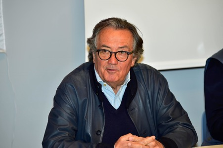 Host to the Grand Prix Drivers Club General Assembly in Imola was Giancarlo Minardi. (Photo Peter Meierhofer)