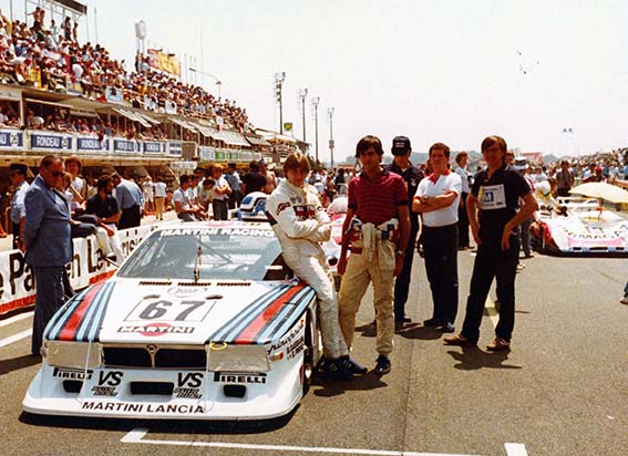 Le Mans 1981 Emanuele in the red shirt with co-driver Beppe Gabbiani before the start.