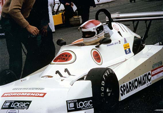 At the wheel of the Martini F3 car during 1981
