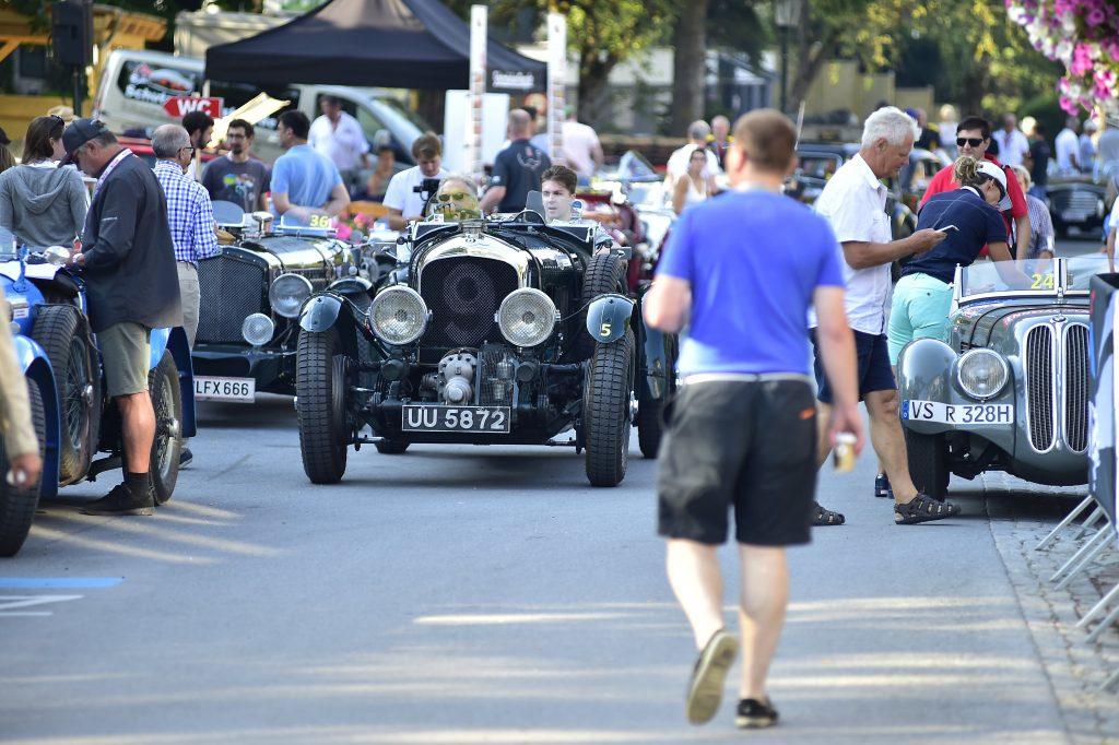 Derek Bell with his Supercharged Bentley celebrating 100 years of Bentley.  - © Peter Meierhofer