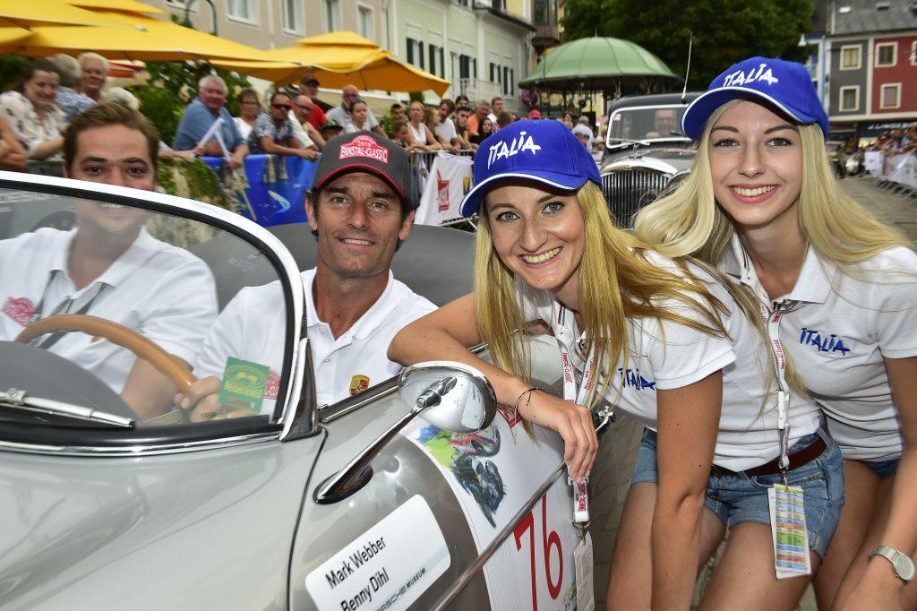 Mark Weber and friends with the Porsche Speedster  - © Peter Meierhofer