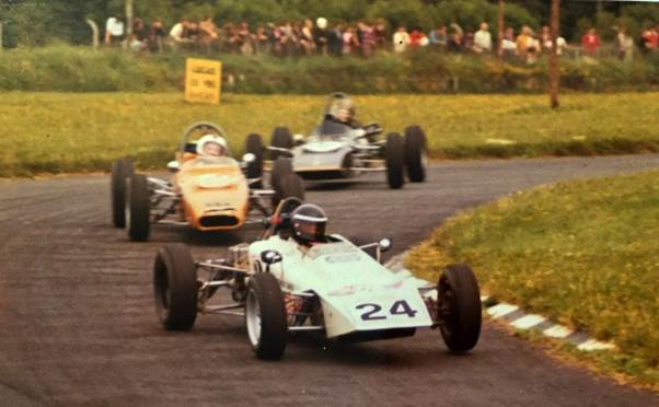 Derek with his first racing car, a Lotus 61 Formula Ford that he bought from Eddie Jordan. ( Daly Archive)
