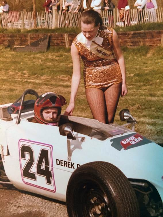 The youthful Derek Daly who says he misses the Irish grid girls in racing. The car is his Lotus 61 ( Daly Archive)