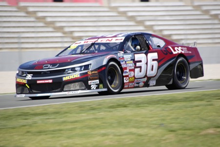 Ulysse Delsaux at the wheel of his Chevrolet in the NASCAR European series
