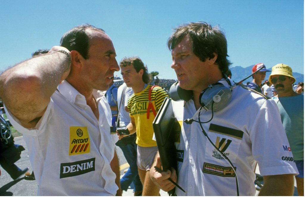 An early photo of Patrick Head, right, with Frank Williams and their nascent Grand Prix team. (Grand Prix Photo: Peter Nygaard)