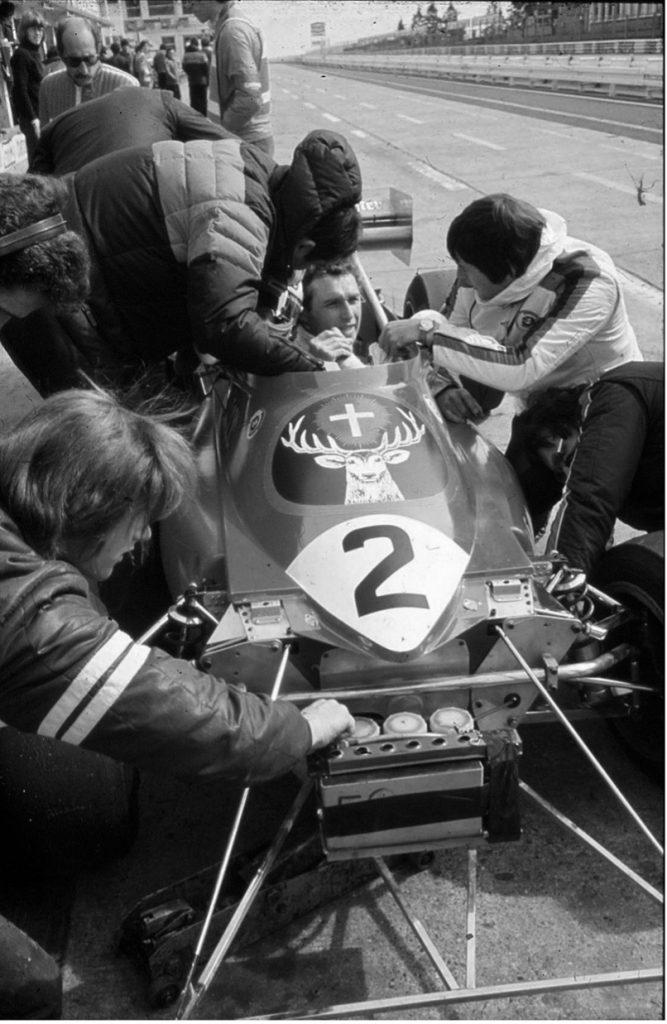 Jochen Mass at Nurburging in F2