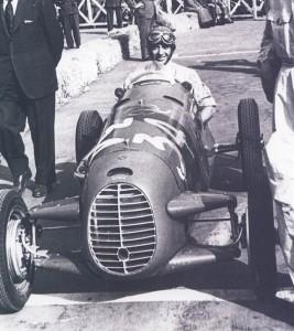 Robert Manzon at the wheel of the little Cisitalia T46