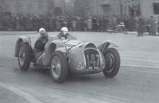 Franco Comotti on the 1938 Mille Miglia with his Delahaye 145