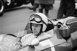 John at the wheel of a his Ferrari 158-63 grand prix car