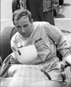 John in the Lotus 18 at his first British Grand Prix in 1960.