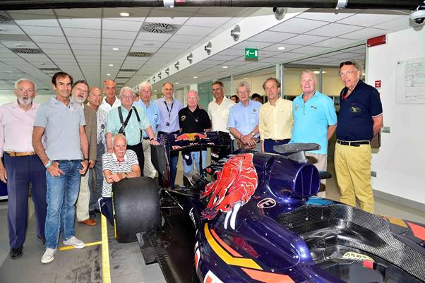 Gpdc Members With The Latest Toro Rosso Grand Prix Car In Factory Left To