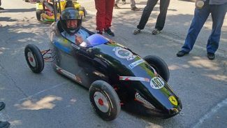Mike Wilds likes driving Ferrari's but not this Ferrari badged soap box.