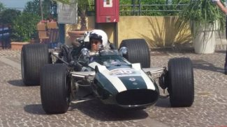 Rare bird: The Cooper-BRM Formula 1 car that was later hillclimbed by Martin Brain
