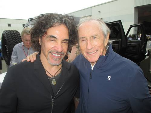 American rock and R and B star John Oates with Club member Sir Jackie Stewart