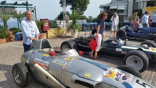 Tazio Taraschi with the Formula Junior Taraschi at Gabicce.