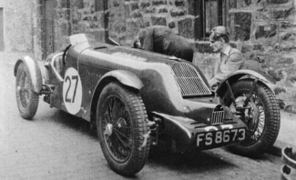 Alastair Cormack, right, with his first Alta, the 1100cc sports car of 1932