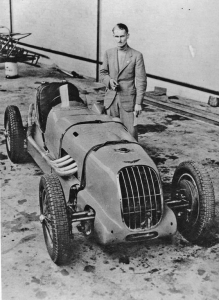 Alastair Cormack with the first true Alta single seater, chassis 52S, that he was to race for the factory in 1936