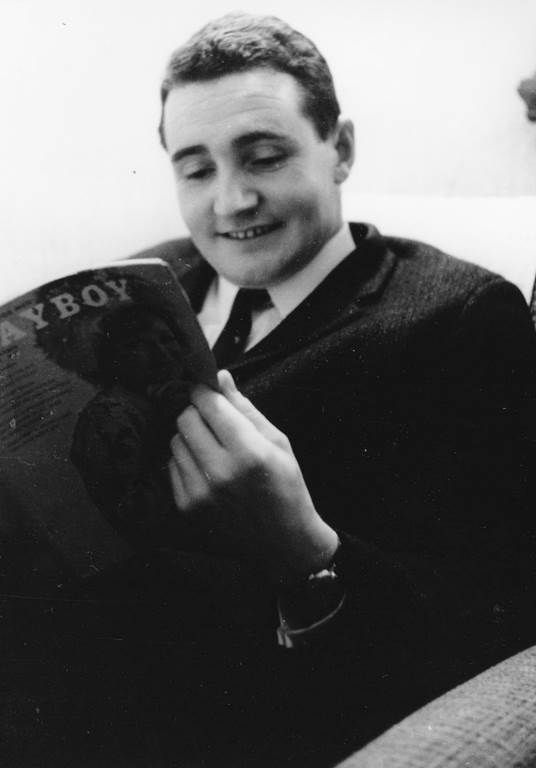 Paddy Hopkirk reading Playboy