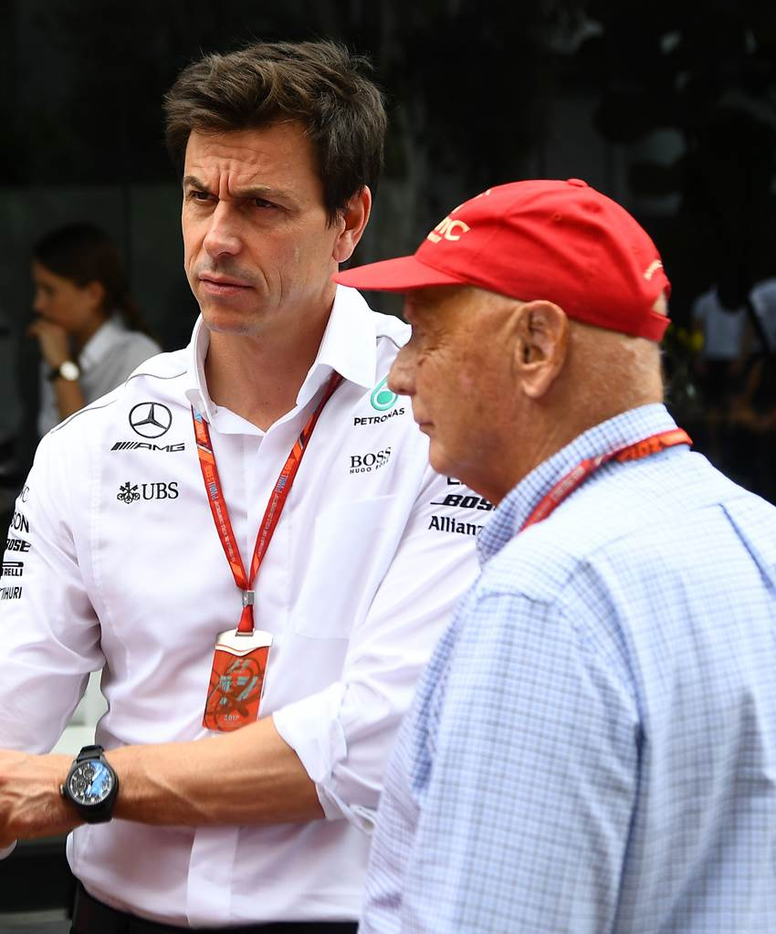 Niki Lauda with Toto Wolff