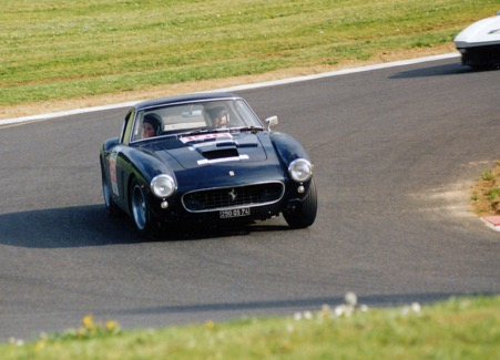 Jean Sage on the Mas du Clos circuit with his beloved Ferrari 250GT SWB.