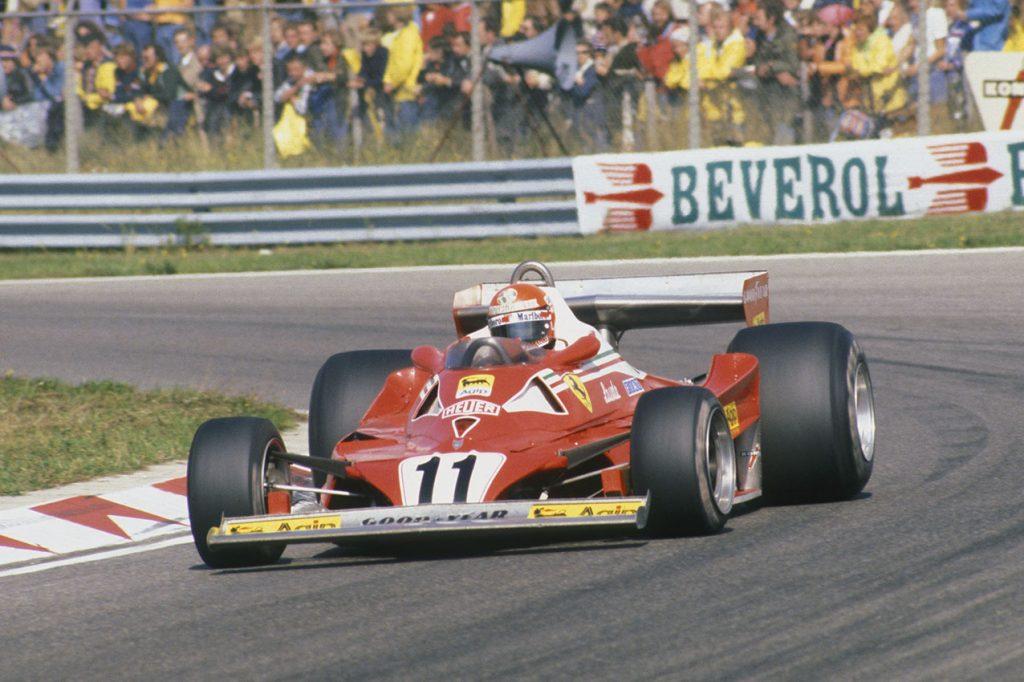 Niki Lauda (Ferrari) in the 1977 Dutch Grand Prix in Zandvoort. Photo: Grand Prix Photo