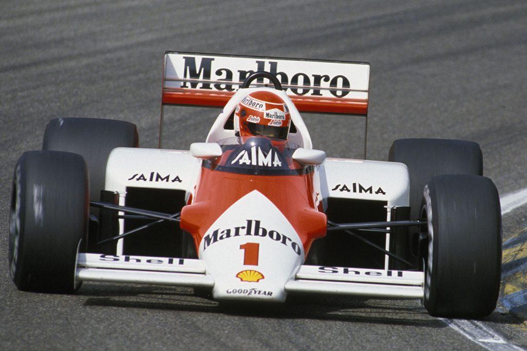 Niki Lauda (McLaren-Porsche/TAG) in the 1985 Dutch Grand Prix in Zandvoort. Photo: Grand Prix Photo